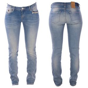 Maison Scotch Distressed La Parisienne Skinny Jean